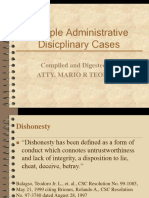 Sample Administrative Disicplinary Cases