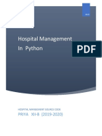 Hospital Mangement in Python
