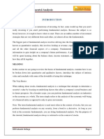 A Study on Fundamental Analysis by Deepak