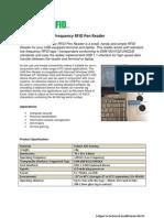 WON001 Unique EM4102 Pen Reader Fact Sheet