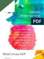 water survival kit presentation