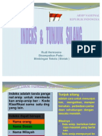 INDEKS & TUNJUK SILANG