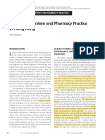 Health Care System and Pharmacy Practice in Hong Kong