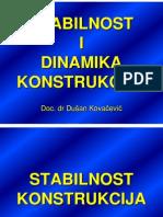 Stabilnost konstrukcija - predavanja