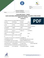 Test 1 - Curs Operator Introducere, Prelucrare, Validare Date