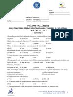 Test 2 - Curs Operator Introducere, Prelucrare, Validare Date