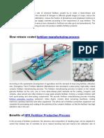 Economic Benefit of Producing Slow-Acting NPK Complex Fertilizer