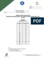 BAREM - Test 4 - Curs Operator Introducere, Prelucrare, Validare Date
