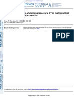 Thermal Stabilization of Chemical Reactors. I the Mathematical Description of the Endex Reactor