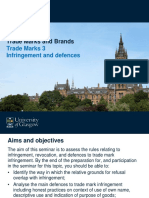 Pre-class Slides TMB - Trade Marks 3 Infringement and Defences - 2019