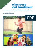 Increase Preschool Enrolment