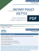 Monetary Policy 2QFY11 - 02 Nov 2010 (IFIN)