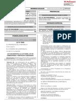 Ley Que Modifica La Ley 26298 Cementerio y Servicio Ley 30868