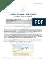 Módulo 1 XXXVI - Información del curso (1)
