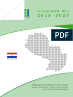 Programa Pais Oei Paraguay 2019 2020a