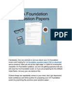 ICAI CA Foundation Question Paper With Solution in PDF