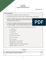 Physics sample paper Class 12