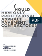 Why You Should Hire Only Professional Asphalt Pavement Contractors?