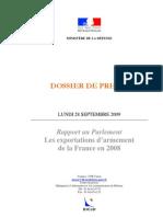 Dp Rapport 2008 Export at Ions d Armement