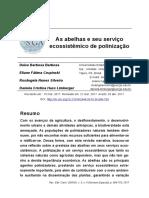 As Abelhas e Seu Servico Ecossitemico de Polinizac