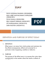 Group 3 'Effect Essay' English Education a 2018