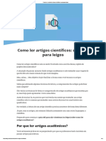 Como Ler (e Entender) Artigos Científicos_ o Guia Para Leigos