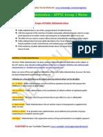 APPSC Group 1 Mains-Public Administration