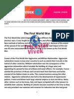 The First World War - Vivek Agarwal