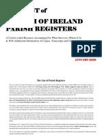 Irish Parish Registers 2019