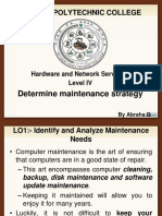implement maintenance procedure