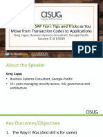 ASUG83589 - Security and SAP Fiori Tips and Tricks as You Move from Transaction Codes to Applications-1.pdf