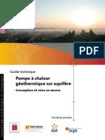 Guide Technique- Pompe a Chaleur Geothermique Sur Aquifere- 2008