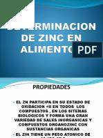 Determinacion de Zinc en Alimentos