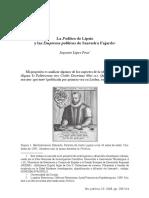 LA POLITICA DE LIPSIO Y LAS EMPRESAS POLITICAS DE SAAVEDRA FAJARDO