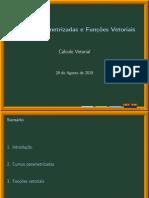 Curvas Parametrizadas e Funcoes Vetoriais