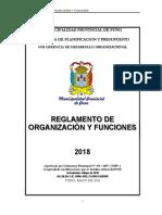 ORGANOS DEL MINICIPIO DE PUNO 2019