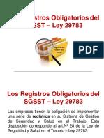 LOS REGISTROS OBLIGATORIOS DEL SGSST - LEY 29783