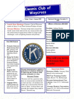 Kiwanis Club of Waycross newsletter, January 2020