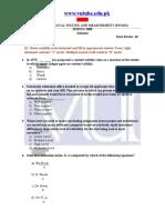 Psychological Testing & Measurements - PSY631 Spring 2008 Quiz 02 Solution