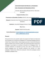 Ponencia ¿HistoriaEducación en México? Mejor Historia de la Pedagogía en México.