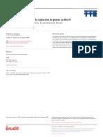 Approches Textuelles Pour La Traduction Au Brésil