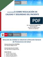 CONFERENCIA AVANCES SOBRE REGULACION EN CALIDAD Y SEGURIDAD DEL PACIENT