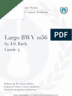 Largo BWV 1056 TAB - Classical Guitar Corner