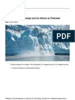 Climate Change and Its Effects on Pakistan