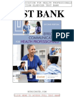 Effective Communication Health Professionals 2nd Elsevier Test Bank