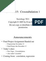 Lecture 15 Crosstabs 1