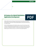 Qt Features for Hybrid Web Native Application Development