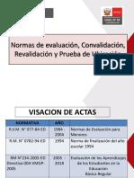Normas de evaluación, Convalidación, Revalidación y Prueba de Ubicación 2019..pdf