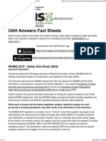 WHMIS 2015 - Safety Data Sheet (SDS) _ OSH Answers