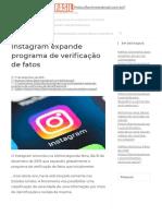 Instagram expande programa de verificação de fatos